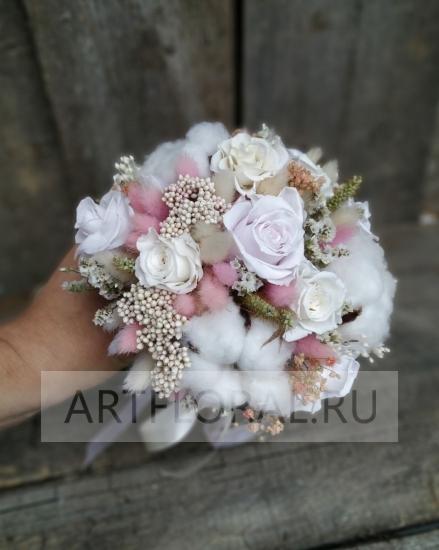 Букет невесты из стабилизированных цветов 4