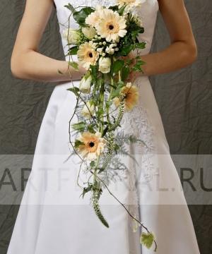 Свадебный букет из роз и гербер №24