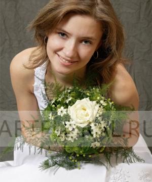 Свадебный букет из орнитогалума №23