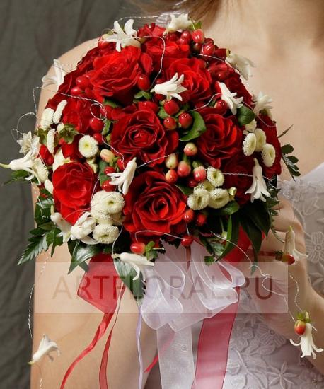 Свадебный букет из роз №27