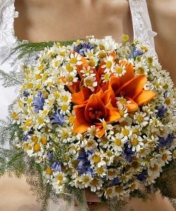 Свадебный букет из ромашек №29