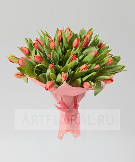 """Букет из 49 тюльпанов """"Красота победит"""""""