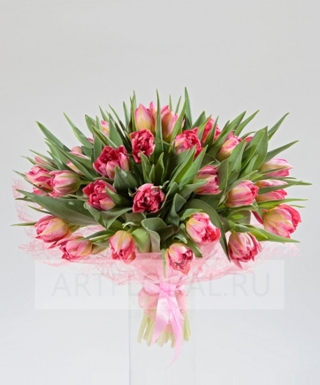 "Букет из 29 тюльпанов ""Царство тюльпанов"""