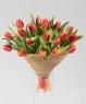 """Букет из 17 тюльпанов """"По-праздничному"""""""