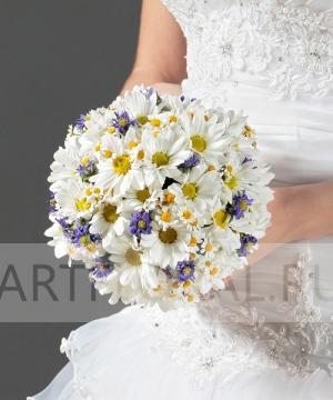 Свадебный букет из хризантем №43
