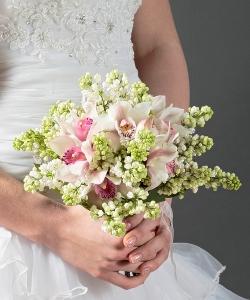 Свадебный букет из орхидей №41