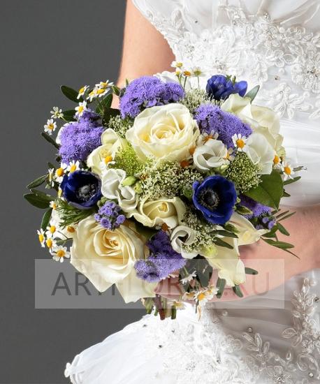 Свадебный букет из роз №40