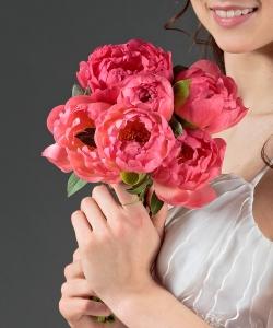 Свадебный букет невесты из пионов №39