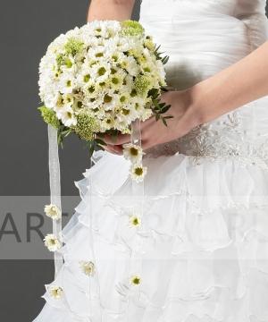 Свадебный букет из хризантем №38