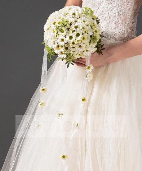 Свадебный букет из хризантем №42