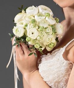 Свадебный букет из ранункулюсов №34