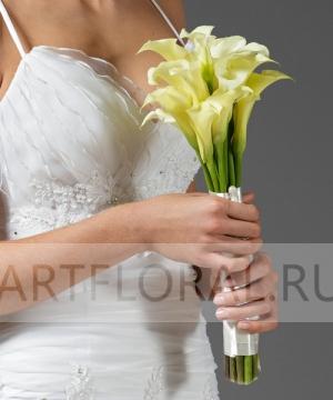 Свадебный букет из калл №3