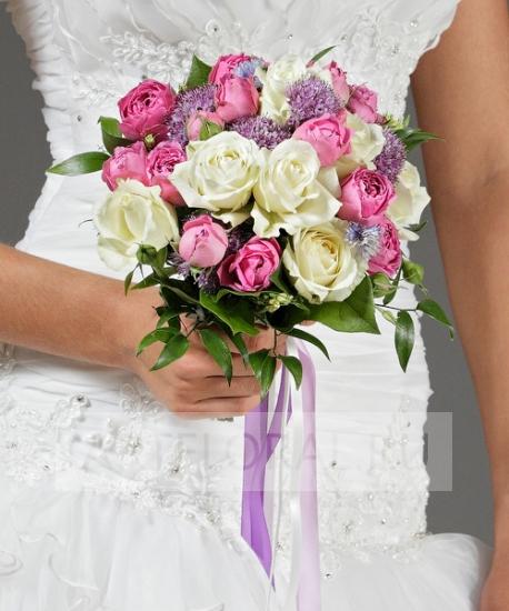 Свадебный букет из роз №6