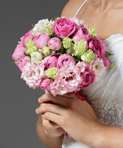 Свадебный букет из кустовой розы №8
