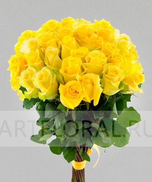 Букет из 39 желтых роз