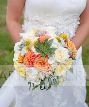 Свадебный букет из роз №88