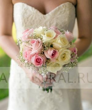 Свадебный букет из роз №104