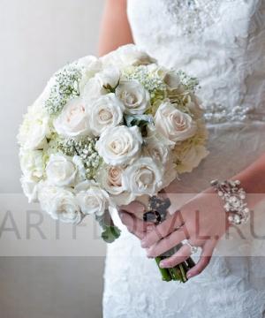 Свадебный букет из роз №118
