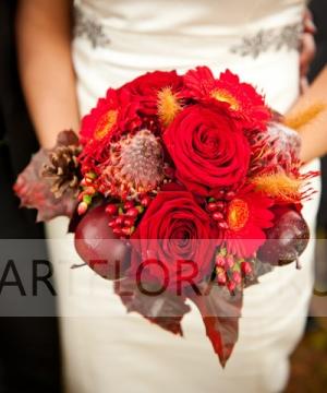 Свадебный букет из роз №121