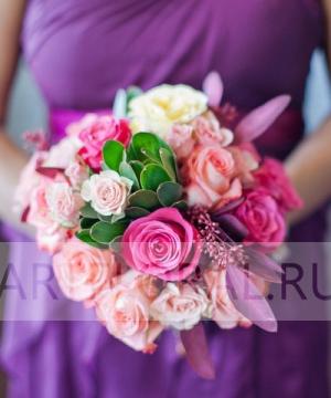 Свадебный букет из роз №124