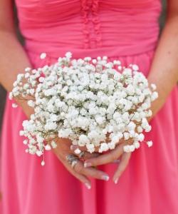 Свадебный букет невесты из гипсофилы №130