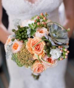Свадебный букет из роз №85