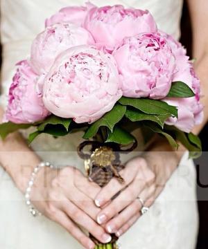 Свадебный букет из пионов №142