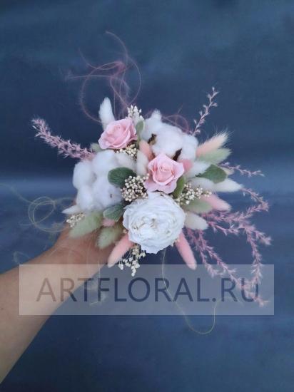 Букет невесты из стабилизированных цветов 7