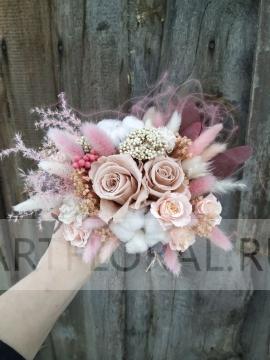 Букет невесты из стабилизированных цветов 11