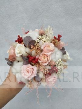 Букет невесты из стабилизированных цветов 12