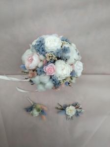 букет невесты из стабилизированных цветов 10