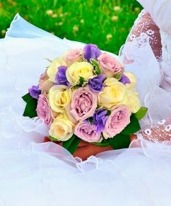Свадебный букет из роз №192