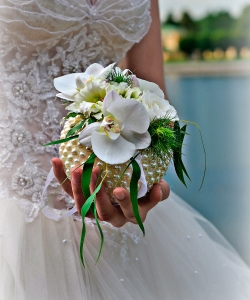 Свадебный букет из орхидей №196