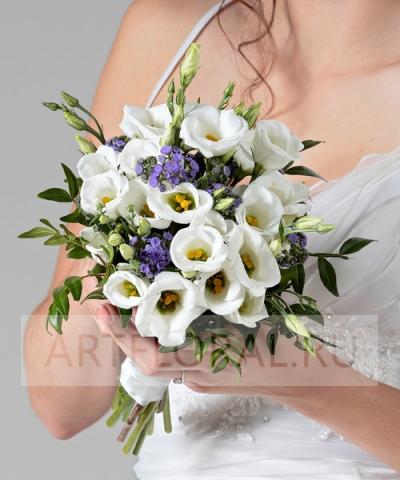 Свадебный букет из эустомы №48
