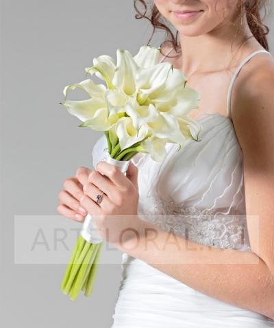 Свадебный букет невесты из калл №47