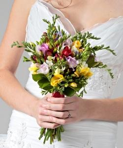 Свадебный букет из фрезий №46