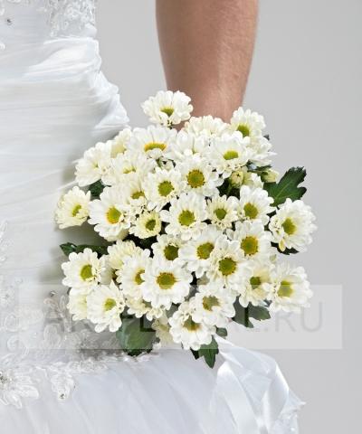 Свадебный букет из хризантем №210
