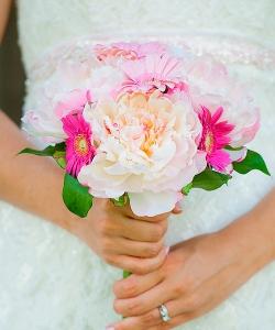 Свадебный букет из пионов №145