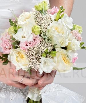 Свадебный букет невесты из пионовидных роз №201