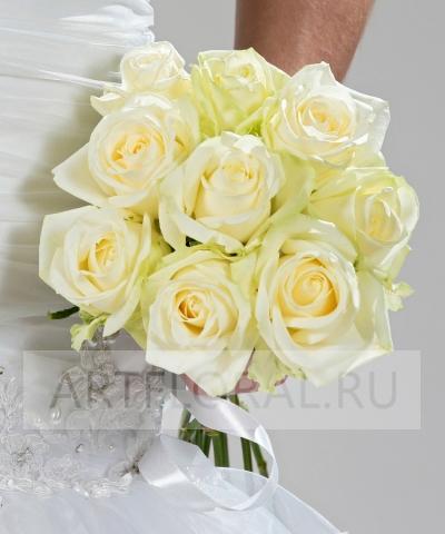 Свадебный букет невесты из роз №211