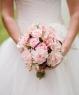 Свадебный букет из гвоздик и роз №146