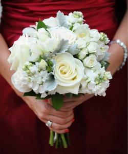 Свадебный букет из роз №166