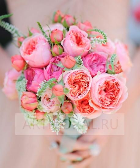 Пионовидные розы фото букетов